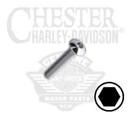 "Harley-Davidson® No. 10-32 x 1"" UNF Button Head Hex Socket Screw 94384-92T"