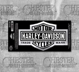 Harley-Davidson® Long Bar & Shield® Chrome Decal, Global Products, Inc. D3123C
