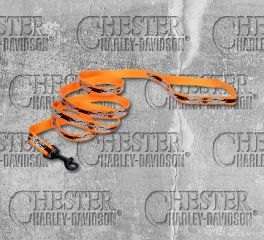 Harley-Davidson® B&S® Flames Reflective Orange Nylon Pet Leash, Nostalgic Art H0466-OBF06
