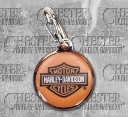 Harley-Davidson® Orange Bar & Shield® Pet Collar ID Tag, Nostalgic Art H4500-H-HDS00