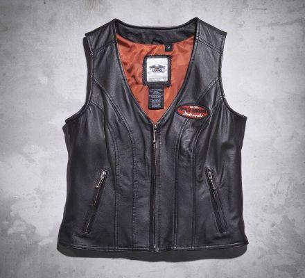 Women's Classica Leather Vest, Harley-Davidson® 98028-12VW