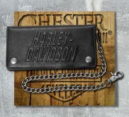Harley-Davidson® Men's Scratch Off Biker Chain Leather Wallet, OkisOnent GmbH HDMWA11388