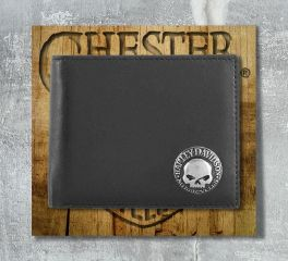 Men's Skull Concho Bi-Fold Leather Wallet