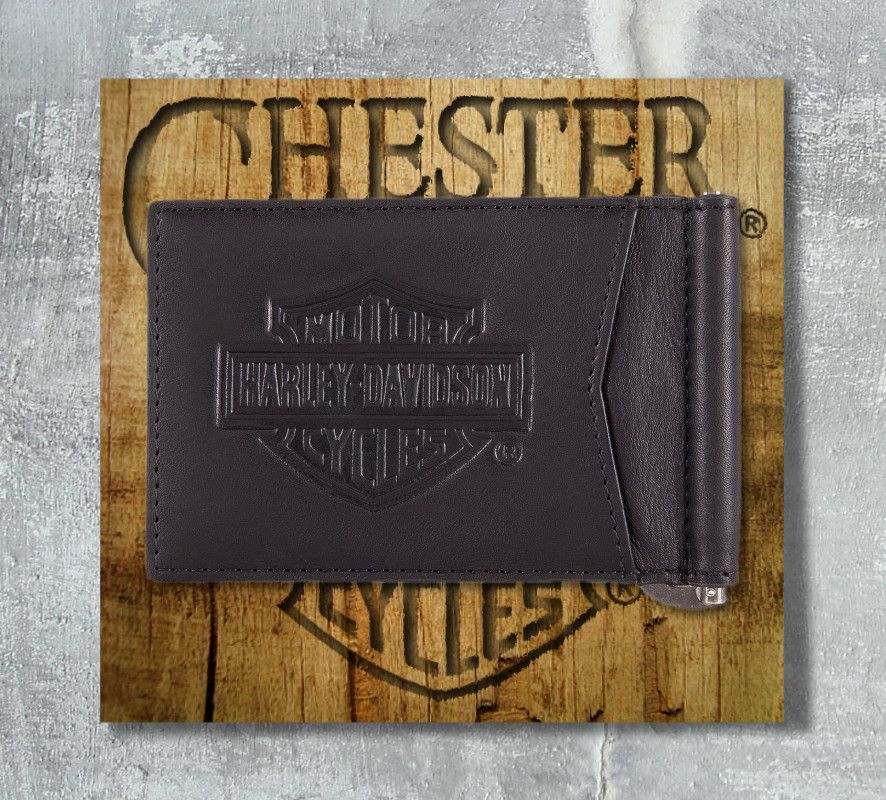 e668c2a500a1 Harley-Davidson® Men's Bar & Shield® Classic Money Clip Wallet, OkisOnent  GmbH