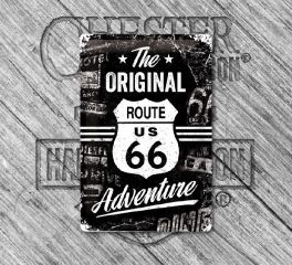 Harley-Davidson® Original Route 66 Tin Sign, Nostalgic Art 22224