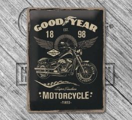 Harley-Davidson® Goodyear Motorcycle Tin Sign, Nostalgic Art 23242