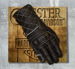 Merlin Black Catton Leather Gloves, Merlin MWG023