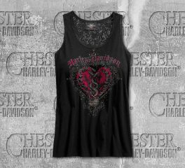 Harley-Davidson® Women's Hearts & Serpents Lace Sleeveless Tank 96309-19VW