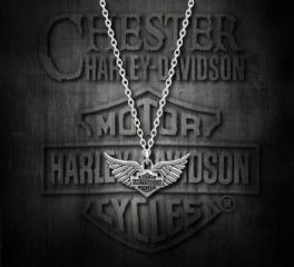 Harley-Davidson® Women's Winged Heart Necklace, MOD Jewelry Group Inc. HDN0213
