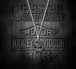Harley-Davidson® Women's Paisley Skull Necklace, MOD Jewelry Group Inc. HDN0351