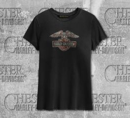 Harley-Davidson® Women's Distressed Eagle Short Sleeve Tee 99231-19VW