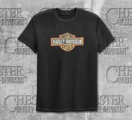 Harley-Davidson® Men's Crackle Logo Slim Fit Short Sleeve Tee 99201-19VM