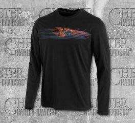 Harley-Davidson® Men's Engine Print Slim Fit Long Sleeve Tee 96570-19VM