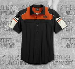 Harley-Davidson® Men's Performance Colorblock Shirt with Coolcore Technology 99189-19VM