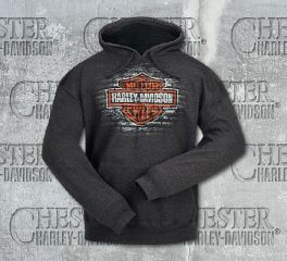 Harley-Davidson® Men's Bricks Bar & Shield® Pullover Hoodie, RK Stratman Inc. R002860