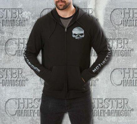 Harley-Davidson® Men's Black Pumped Skull Hoodie, Fanatics Licensed Sports Group, LLC 5AB1-HG3D