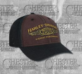 Harley-Davidson® Men's Highest Performance Stone Washed Baseball Cap, Global Products, Inc. BCC33668