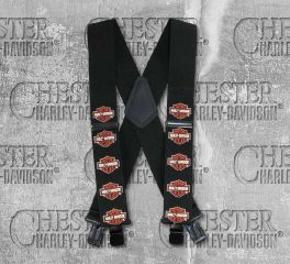 "Harley-Davidson® 48"" Bar & Shield® Suspenders, Global Products, Inc. SUS302305"