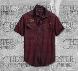 Harley-Davidson® Men's No. 1 Eagle Slim Fit Short Sleeve Shirt 96648-19VM