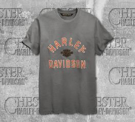 Harley-Davidson® Men's Felt Letter Slim Fit Short Sleeve Tee 96862-19VM