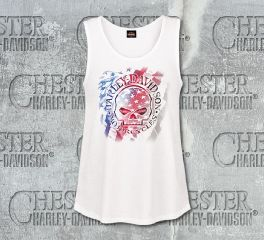 Women's White Starry G Tank