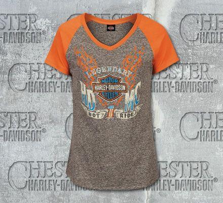 Harley-Davidson® Women's Searing V-Neck Short Sleeve Tee, RK Stratman Inc. R003193