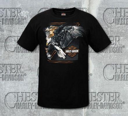Harley-Davidson® Men's Black Protected Journey Short Sleeve Tee, RK Stratman Inc. R003135