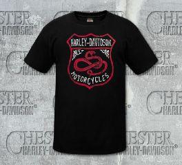 Harley-Davidson® Men's Black Snake Shield Short Sleeve Tee, RK Stratman Inc. R003129