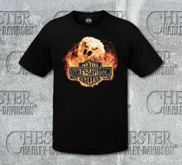 Harley-Davidson® Men's Black Fire Screech Short Sleeve Tee, RK Stratman Inc. R003123