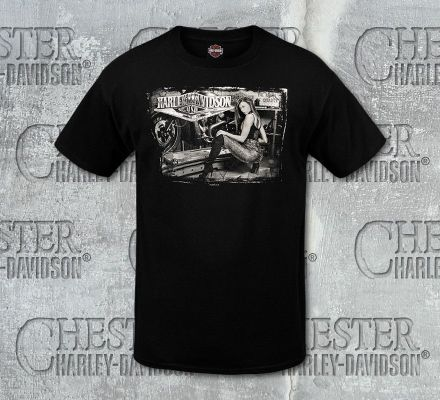 Harley-Davidson® Men's Black Shop Class Short Sleeve Tee, RK Stratman Inc. R003133