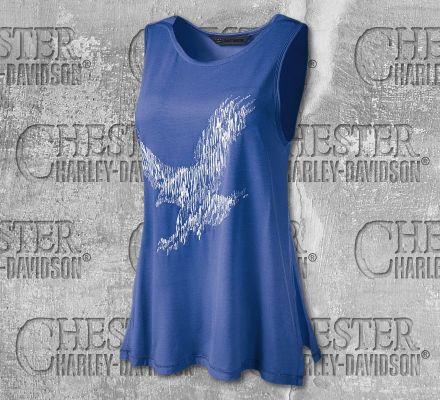 Harley-Davidson® Women's Metallic Embroidered Sleeveless Tee 96890-19VW