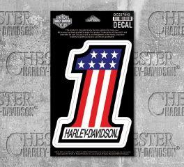 Harley-Davidson® Medium No.1 Decal, Global Products, Inc. DC227843