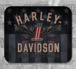 Harley-Davidson® No.1 Winged Mousepad, Global Products, Inc. MO33812