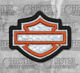 Harley-Davidson® Embroidered Reflective Blank B&S® Emblem Patch, Global Products, Inc. EM1144381