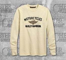 Harley-Davidson® Men's Winged Pistons Long Sleeve Tee 96668-19VM