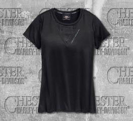 Harley-Davidson® Women's Camo Mesh Short Sleeve Tee 96720-19VW