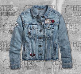 Harley-Davidson® Women's Roam Free Denim Jacket 96748-19VW