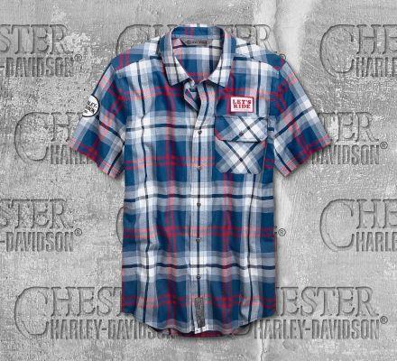 Harley-Davidson® Men's Let's Ride Plaid Short Sleeve Shirt 96752-19VM