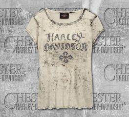 Harley-Davidson® Women's Cross Logo Short Sleeve Tee 96822-19VW