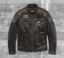 Harley-Davidson® Men's Hutto Leather Riding Jacket 97033-19EM