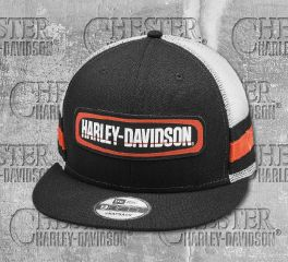 Harley-Davidson® Men's Colorblocked Adjustable Trucker Cap 97853-19VM