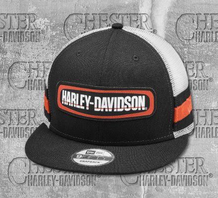 Harley-Davidson® Men's Colorblocked Adjustable Trucker Cap 97853-19VM