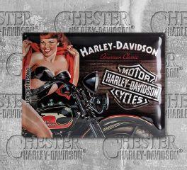 Harley-Davidson® Biker Babe Tin Sign, Nostalgic Art 23223