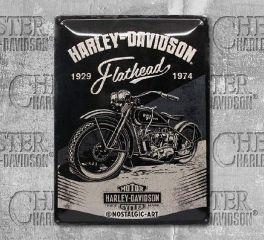 Harley-Davidson® Flathead Tin Sign, Nostalgic Art 23247