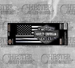 Harley-Davidson® Silver Bar & Shield® Decal 32700