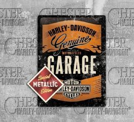 Harley-Davidson® Garage Special Metallic Edition Tin Sign, Nostalgic Art 63304