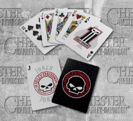 Harley-Davidson® Willie G Skull Playing Cards 623-WG7