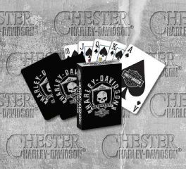 Harley-Davidson® Willie G Skull and Shield Playing Cards 625