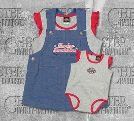 Harley-Davidson® New Born Girl Jersey Jumper Set with Creeper, OkisOnent GmbH 3002679