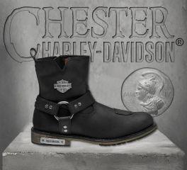 Harley-Davidson® Men's Black Conklin Boots, Wolverine D97055